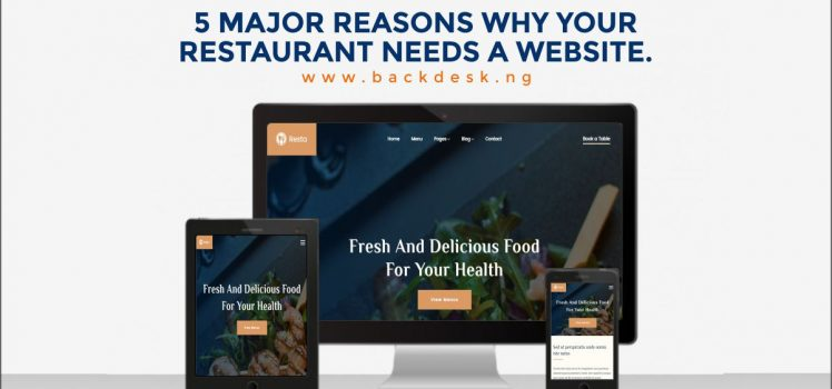 Restaurant Website Presentation - Backdesk