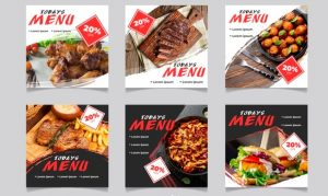 Restaurant Menu Fliers